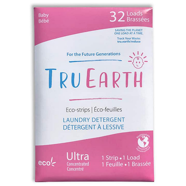 Tru Earth Eco-Strips Laundry Detergent Baby - 32 Loads