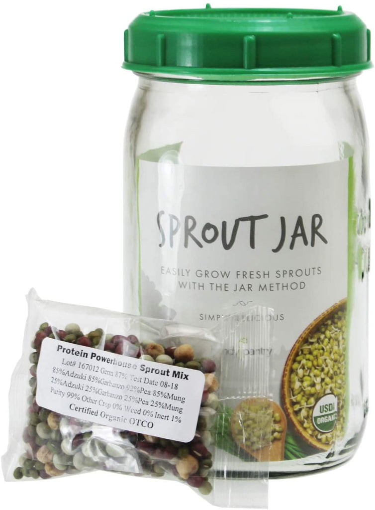 Handy Pantry Sprout Jar With Seeds