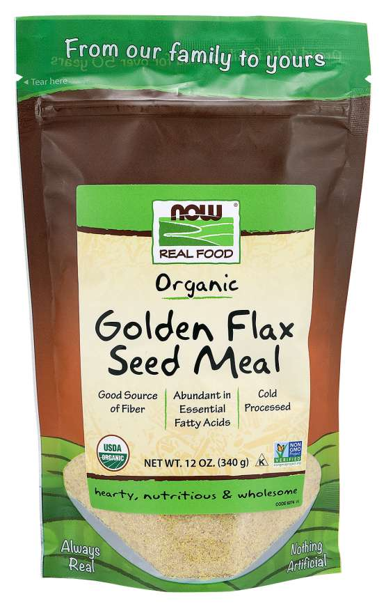Now Organic Golden Flax Seed Meal - 340g
