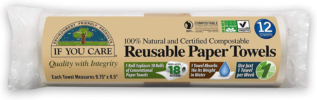 If You Care Reusable Paper Towel - 12 Towels