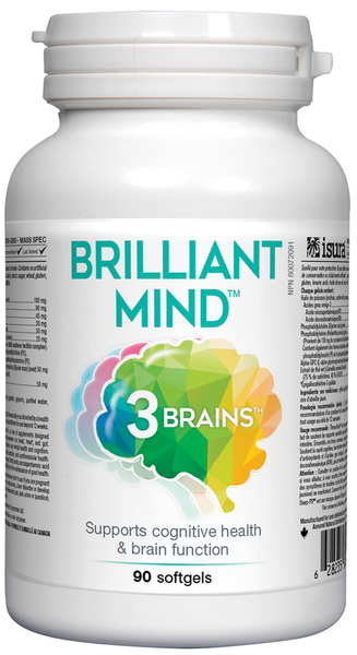 3 Brains Brilliant Mind - 90 Softgels