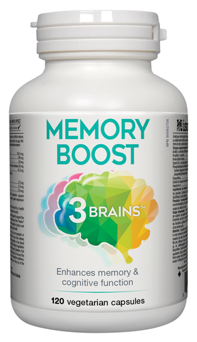 3 Brains Memory Boost - 120 Veg Capsules