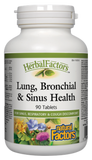 Natural Factors Lung, Bronchial & Sinus Health - 90 Tablets