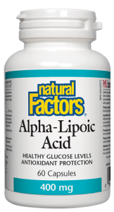 Natural Factors Alpha-Lipoic Acid 400mg - 60 Capsules