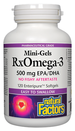 Natural Factors Mini-Gels RxOmega-3 - 500mg - 120 Softgels