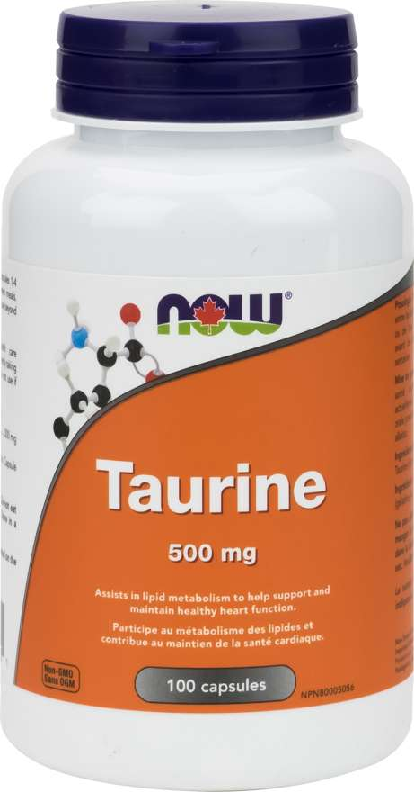 Now Taurine 500mg - 100 Capsules