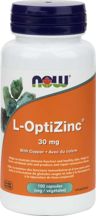 Now L-Optizinc 30mg With Copper - 100 Capsules