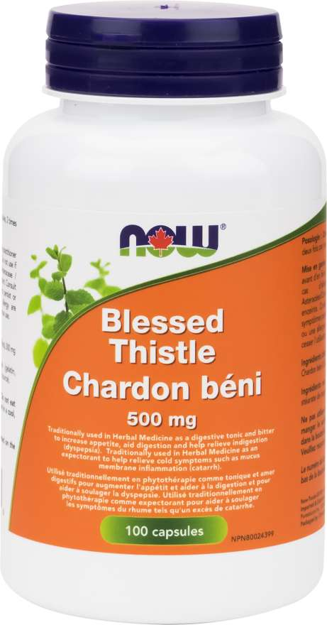 Now Blessed Thistle 500mg - 100 Capsules