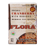 Flora Organic Cranberry with Rooibos Tea - 16 Bags