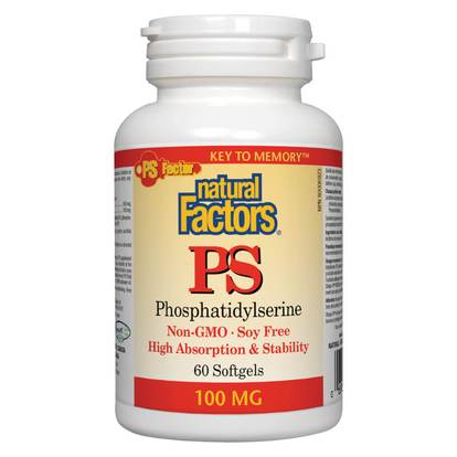 Natural Factors PS (Phosphatidylserine) 100mg - 60 Softgels