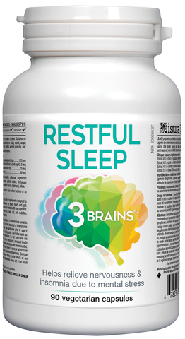 3 Brains Restful Sleep - 90 Veg Capsules