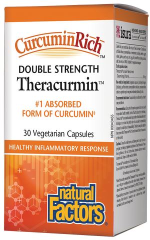 Theracurmin Double Strength - 60mg 30 Veg Capsules