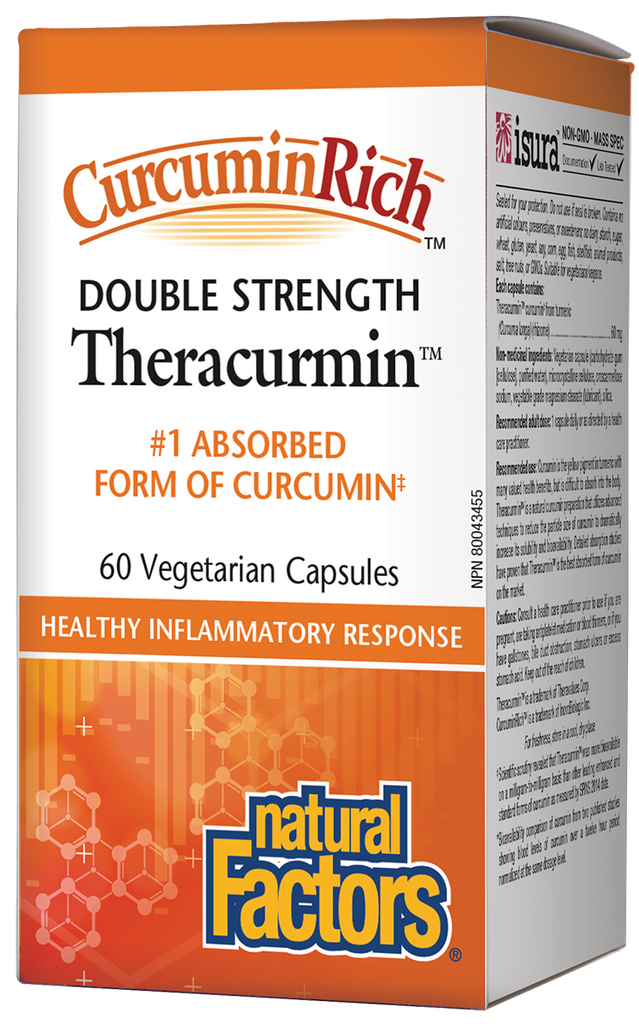 Natural Factors Theracurmin Double Strength - 60 Capsules