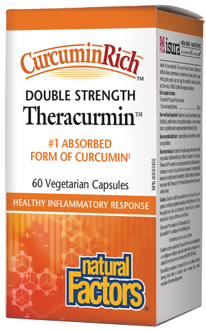 Theracurmin Double Strength - 60mg 60 Veg Capsules