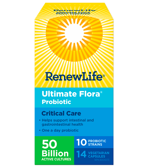 Renew Life Ultimate Flora Probiotic Critical Care 50 Billion - 60 Capsules
