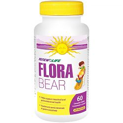 Renew Life FloraBEAR Probiotic for Kids - 60 Chewable Tablets
