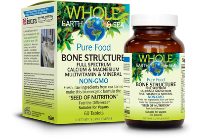 Pure Food Vegan Bone Structure - 60 Tablets
