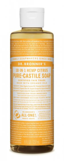 Dr. Bronner's Pure Castile Liquid Soap Citrus - 237ml