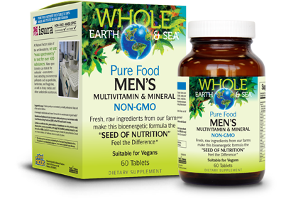 Pure Food Vegan Men's Multivitamin - 60 Tablets