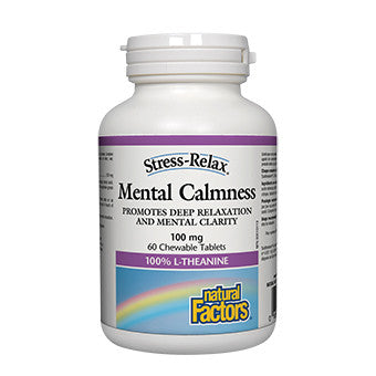 Natural Factors Mental Calmness 100mg - 60 Chewable Tablets