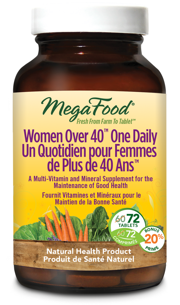 MegaFood Women Over 40 One Daily Multivitamin - 72 Tablets