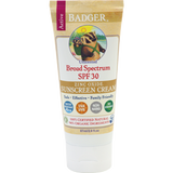 Badger Active Sunscreen SPF 30 Unscented - 87ml