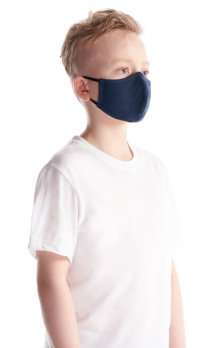 Jerico Bamboo/Cotton Kids Face Mask - Midnight Blue