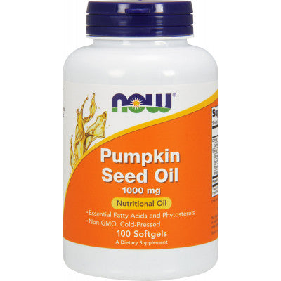 Now Pumpkin Seed Oil 1000mg - 100 Softgels