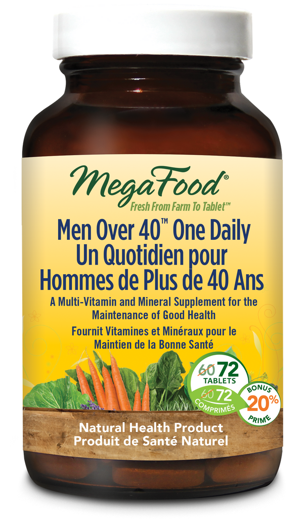 MegaFood Men Over 40 One Daily Multivitamin - 72 Tablets