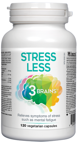3 Brains Stress Less - 120 Veg Capsules