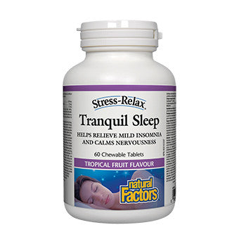 Tranquil Sleep - 60 Tropical Fruit Flavour Chewable Tablets