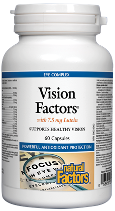 Vision Factors® with 7.5 mg Lutein - 60 Capsules