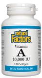 Natural Factors Vitamin A 10,000IU - 180 Softgels