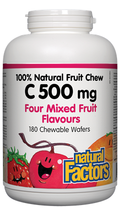 100% Natural Fruit Chew C - 500mg 180 chewable wafers