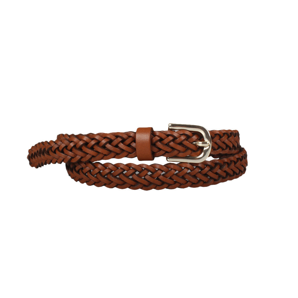 Smart Braided Skinny Belt