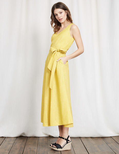 boden riviera dress yellow