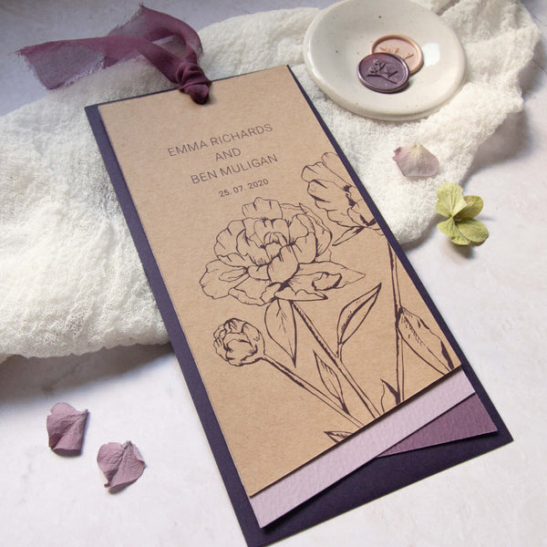 Peonie Hues sustainable wedding stationery