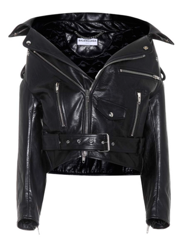 biker jacket leather winter wedding overcoat