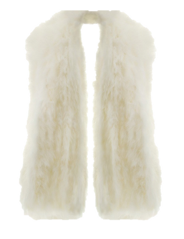 wrap faux fur