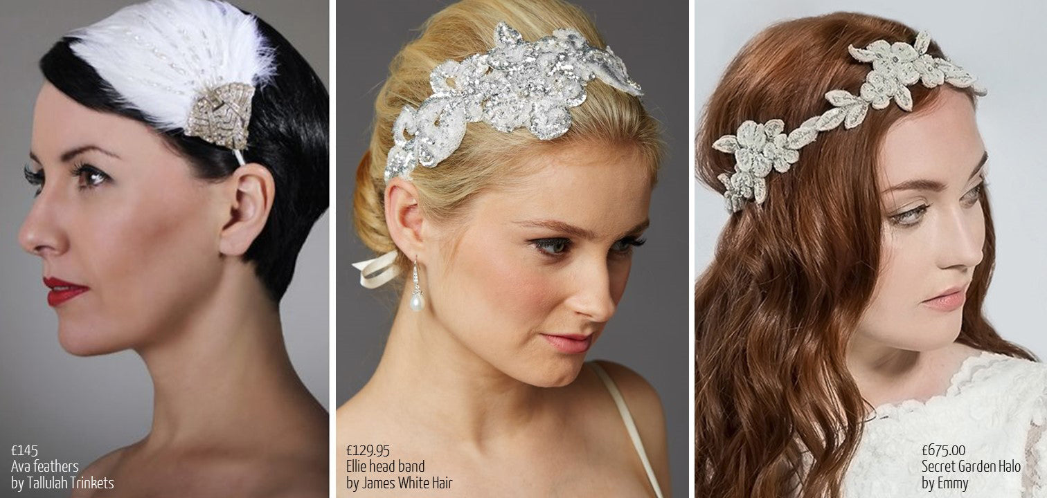 Sequin bridal accessories