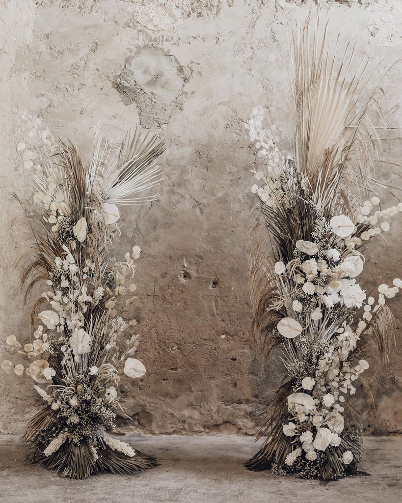 dried flower display