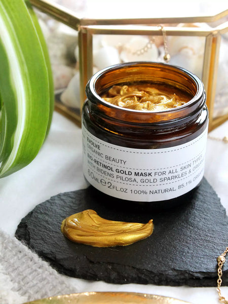 gold vegan face mask