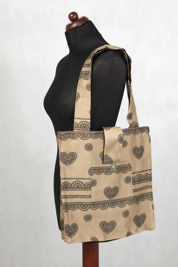 LennyLamb Shoulder bag 60% Cotton 40% Polyester - Beige & Black Lace