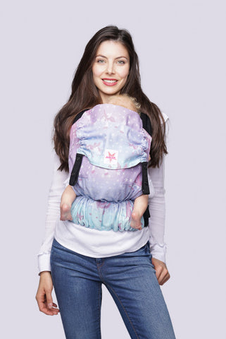 NEW! Kokadi Baby Carrier Flip Z PASTELL RAINBOW Unicorn Purple Stars (BAMBOO)