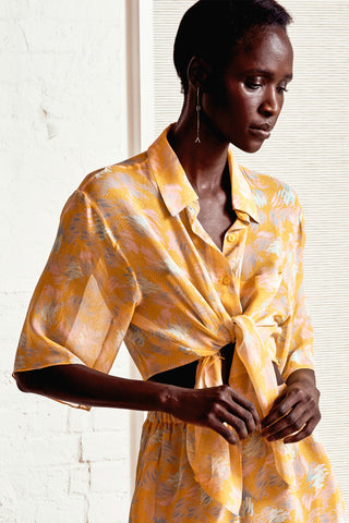 YUNA MARIGOLD BUTTON DOWN