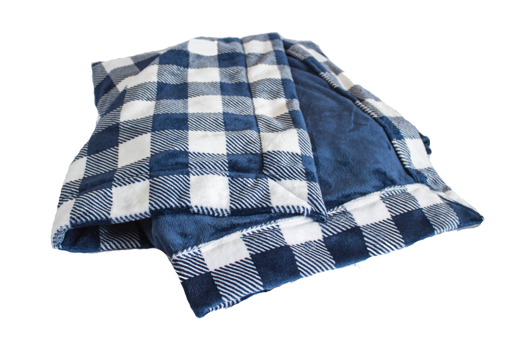 Buffalo Check Navy with Plush Navy