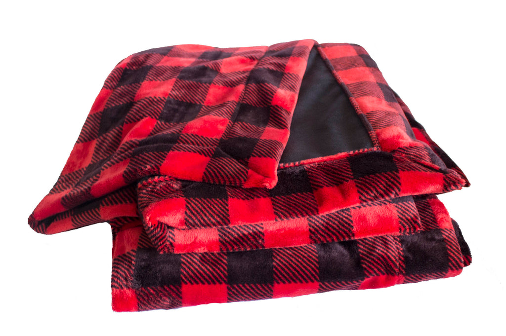 Buffalo Check Red/Black with Plush Black Cuddle