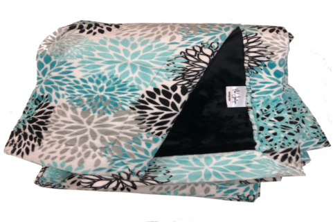 Blooms Teal Cuddle with Plush Black Cuddle