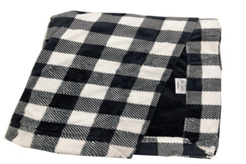 Buffalo Check Black with Plush Black Cuddle