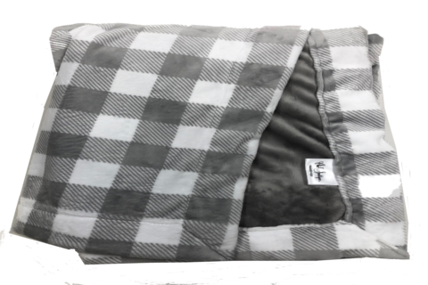 Buffalo Check Steel with Plush Steel Cuddle